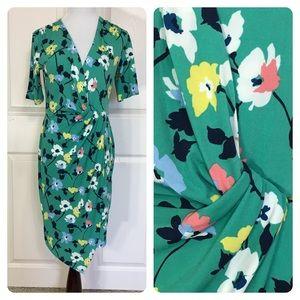 Banana Republic green floral dress
